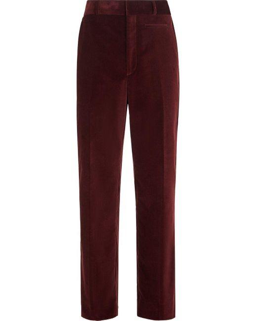 Pantalones chinos rectos Fendi de hombre de color Red
