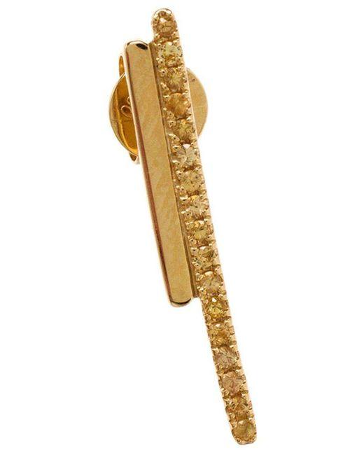Asherali Knopfer - Metallic Sapphire Bar Earring - Lyst