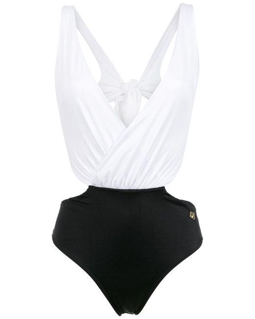 Brigitte Bardot - White Luna Cut Out Swimsuit - Lyst
