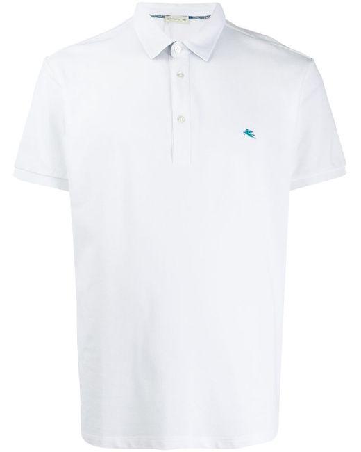 メンズ Etro ロゴ ポロシャツ White