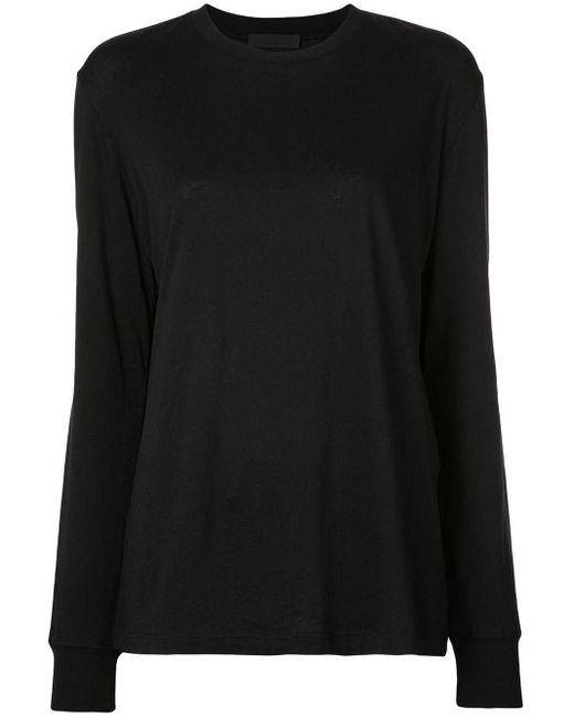 T-shirt a maniche lunghe di WARDROBE.NYC in Black