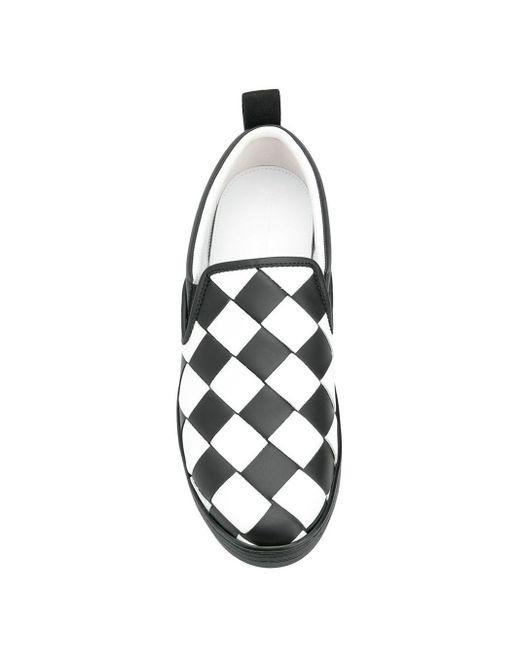 Слипоны С Плетением Intrecciato Bottega Veneta для него, цвет: Black