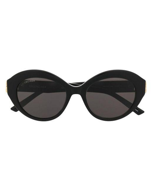 メンズ Balenciaga Bb ラウンド眼鏡フレーム Black