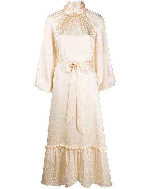 Zimmermann タイウエスト ポルカドット ドレス Natural