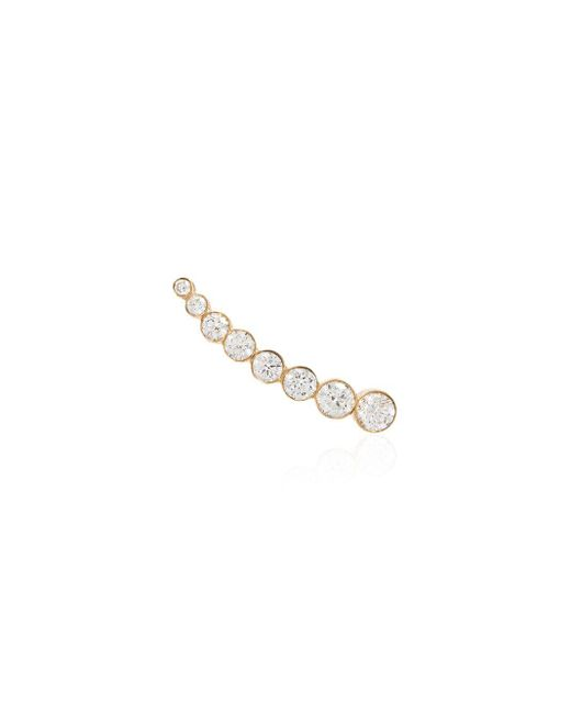 Sophie Bille Brahe Metallic 18kt Yellow Gold Diamond Cuff Earring