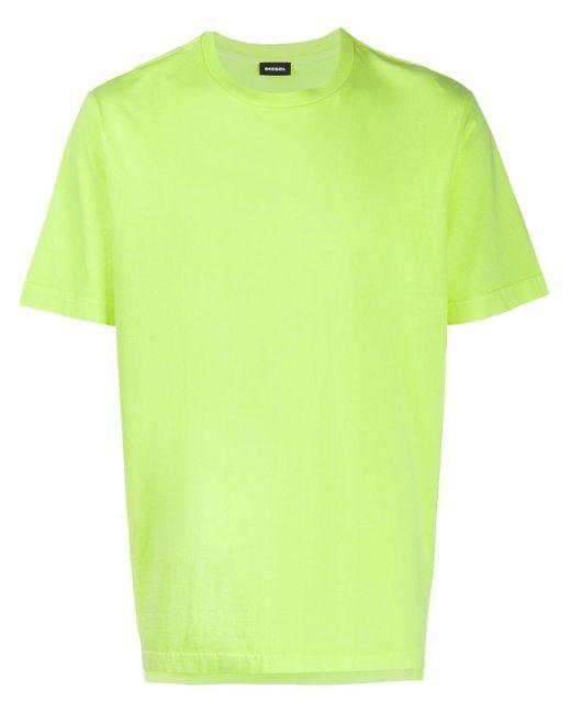 メンズ DIESEL ロゴ Tシャツ Yellow