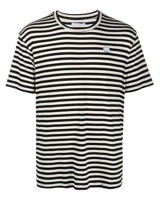メンズ Societe Anonyme ストライプ Tシャツ Black