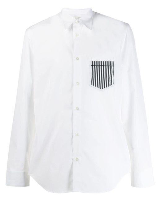 メンズ Maison Margiela ストライプポケット シャツ White