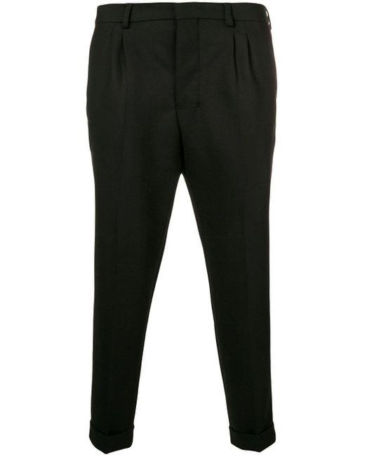 メンズ AMI Pleated Carrot Fit Trousers Black
