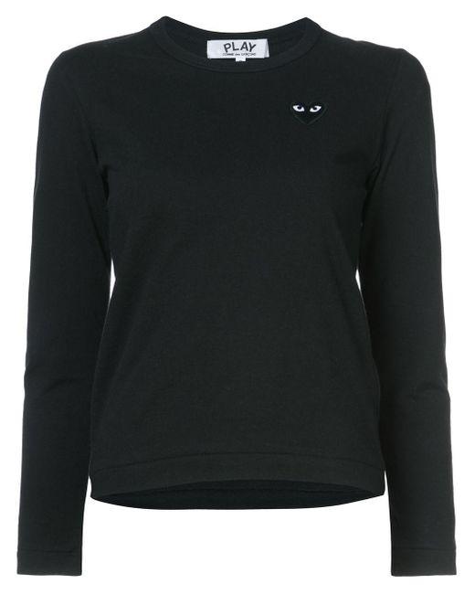 COMME DES GARÇONS PLAY ハートロゴ ロングtシャツ Black