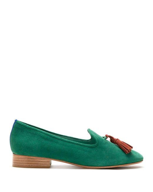 Blue Bird Shoes Dirham スエード ローファー Green