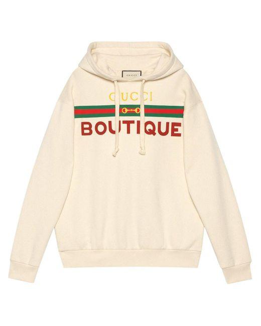 Gucci 【公式】 (グッチ) Boutique プリントスウェットシャツオフホワイト コットンホワイト White