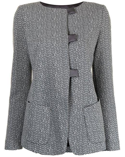 Emporio Armani スリムフィット シングルジャケット Gray