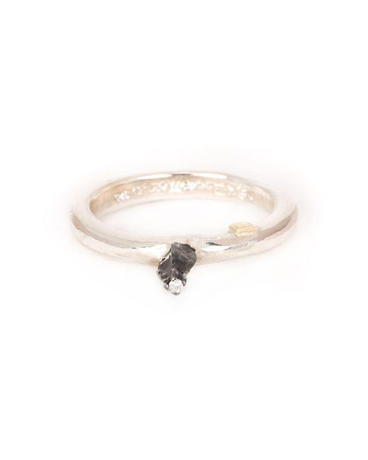 Rosa Maria - Metallic Solitaire Diamond Ring - Lyst