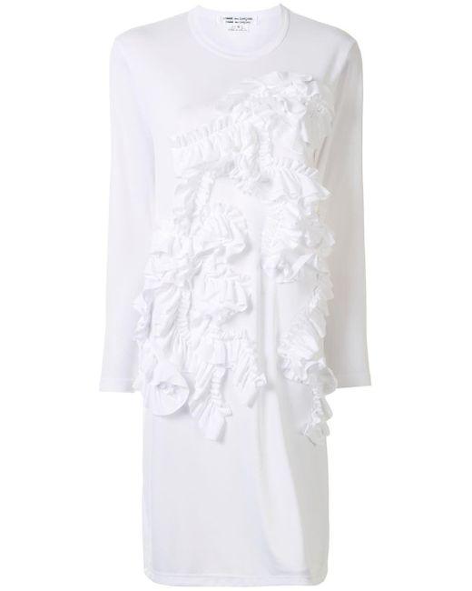 Comme des Garçons ラッフル Tシャツ White