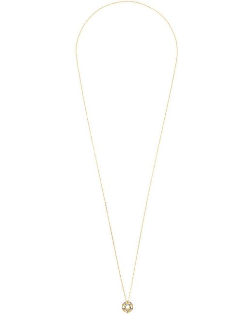 Noor Fares - Metallic Hollow Dodecahedron Pendant Necklace - Lyst