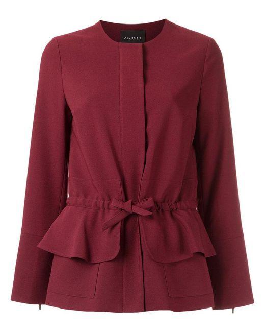 Olympiah | Red Tie Waist Jacket | Lyst