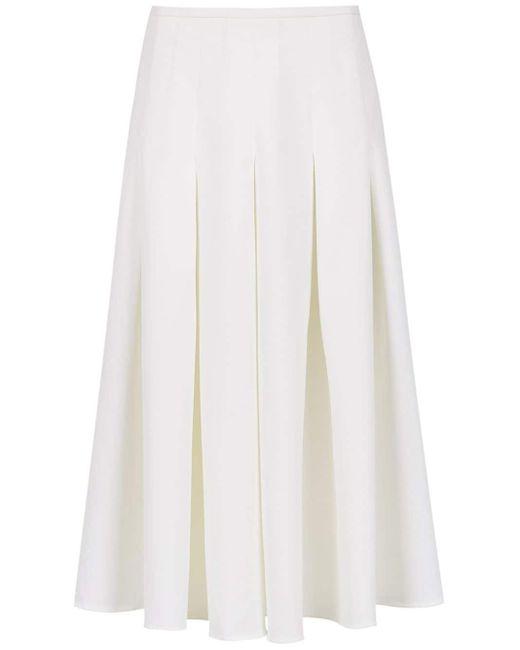 Olympiah Spezzia Midi Skirt White