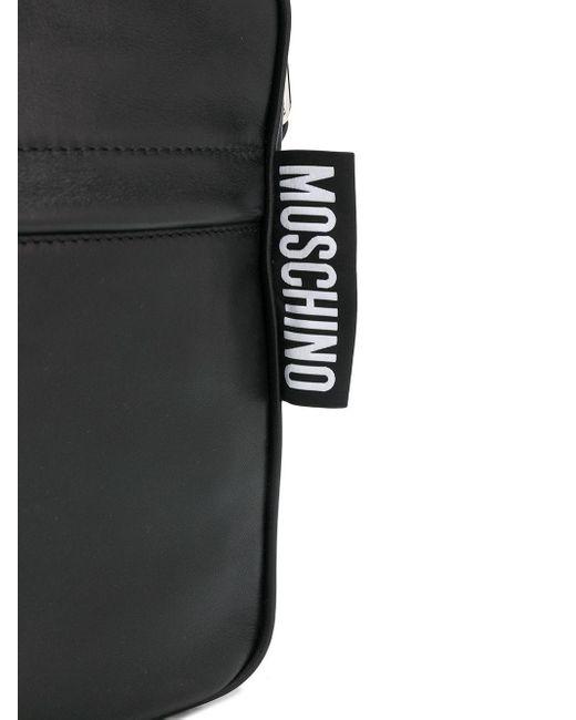 Сумка-мессенджер Moschino для него, цвет: Black