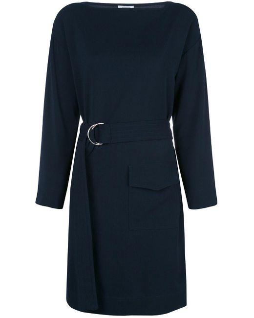 Nomia ベルテッド ドレス Blue