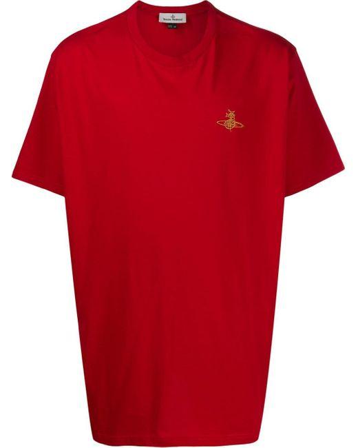 メンズ Vivienne Westwood オーバーサイズ Tシャツ Red