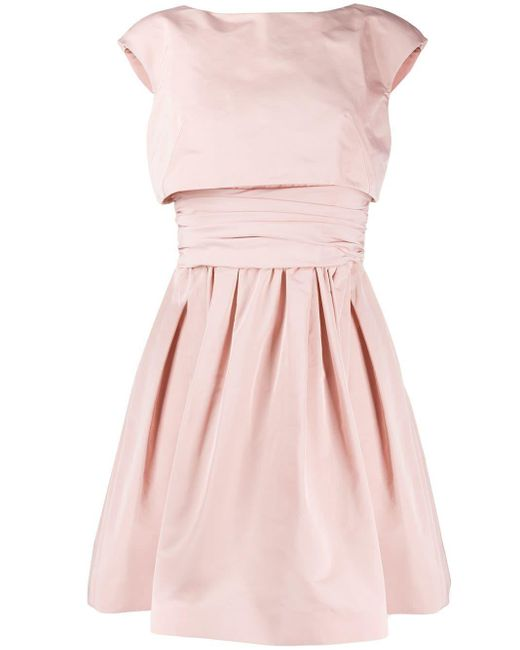 Paule Ka レイヤード フレアドレス Pink