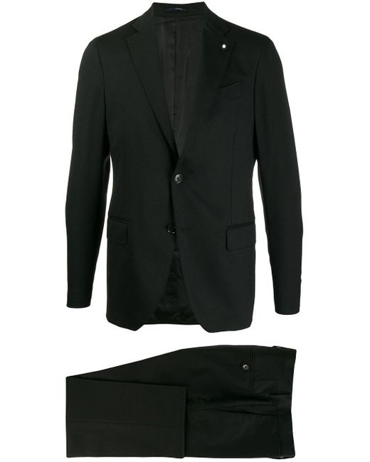 メンズ Lardini ツーピース スーツ Black