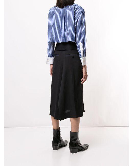 Sacai ベルテッド シャツドレス Blue