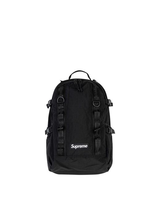 Supreme ロゴ バックパック Black