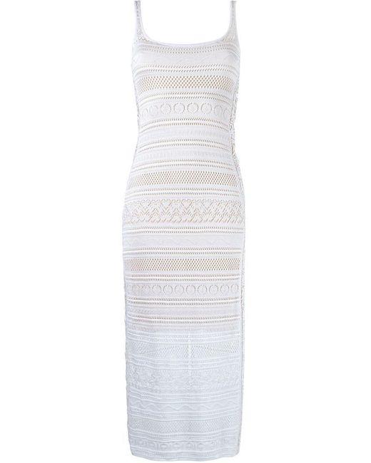Cecilia Prado - White Knit Midi Dress - Lyst