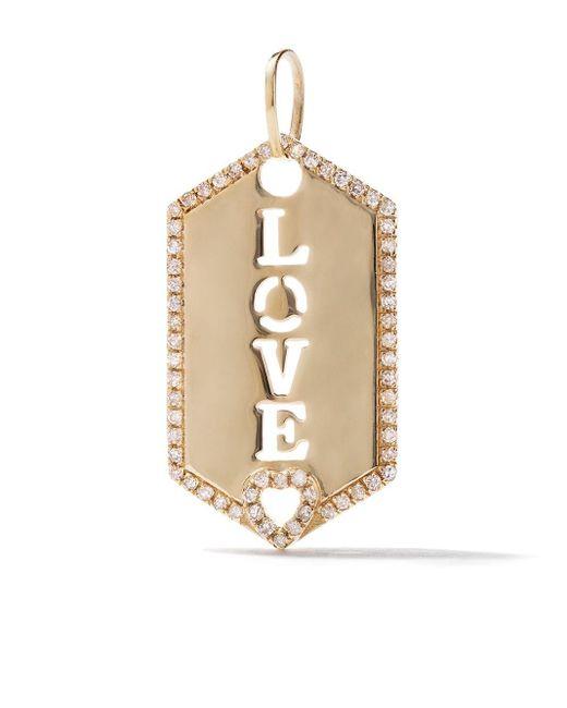AS29 Love Hex ダイヤモンド ペンダント 18kイエローゴールド Metallic