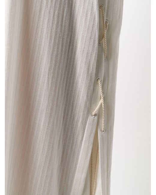 Ann Demeulemeester ストライプ シャツドレス White