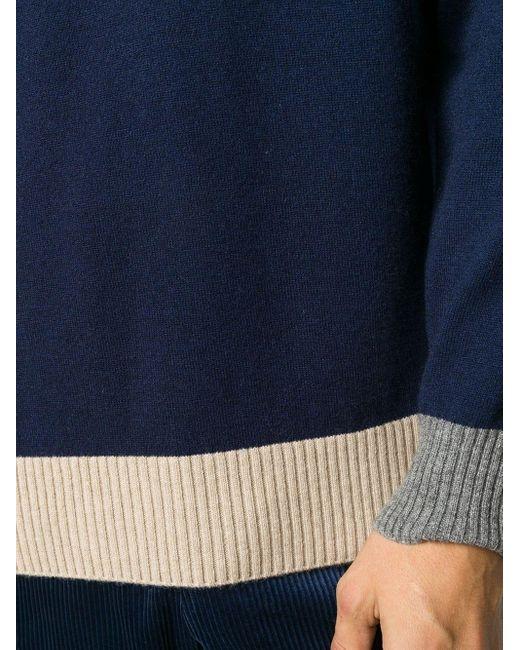 メンズ Brunello Cucinelli カシミア プルオーバー Blue