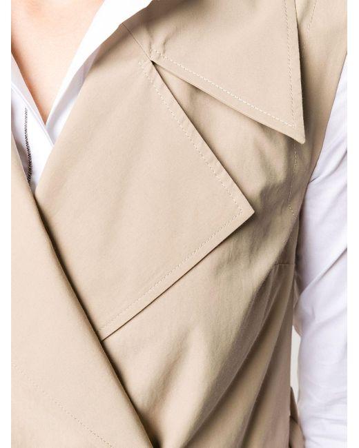 Peserico ノースリーブ トレンチコート ドレス Natural