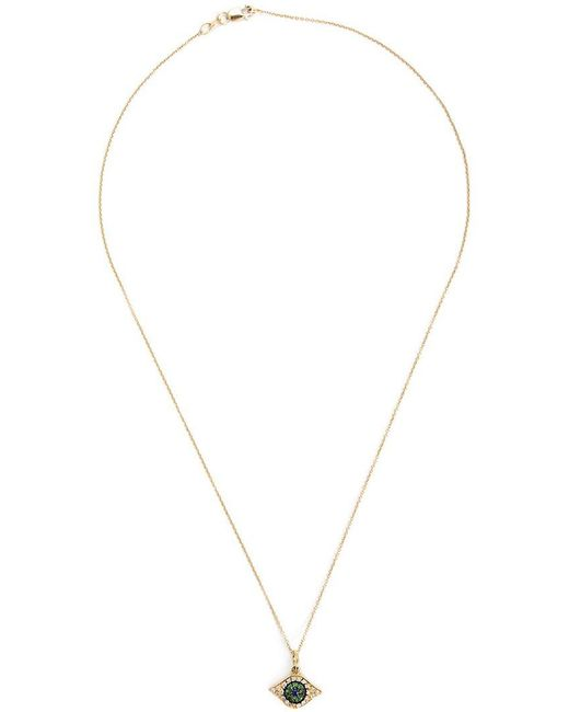 Ileana Makri - Metallic 'kitten Eye' Pendant Necklace - Lyst