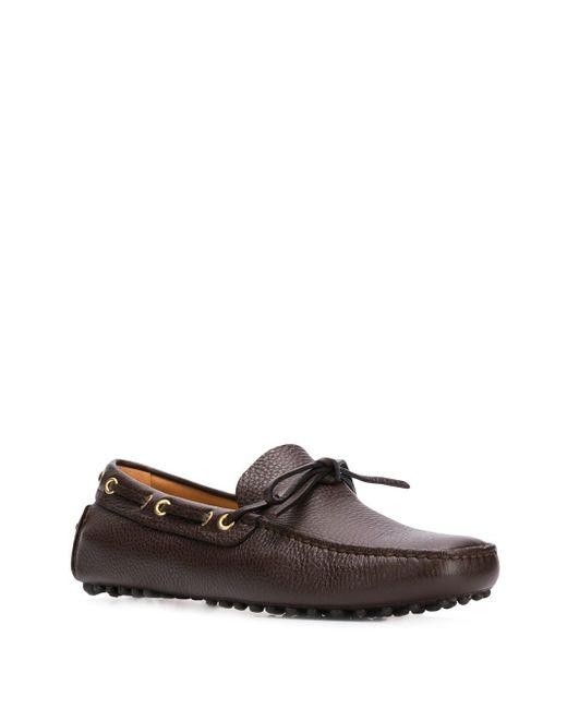 Лоферы Со Шнурками Car Shoe для него, цвет: Brown