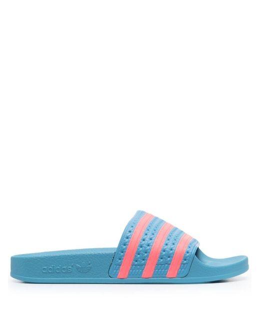 Adidas Adilette Aqua フラットサンダル Blue