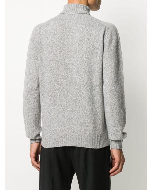 Altea Gray Roll-neck Knit Jumper for men