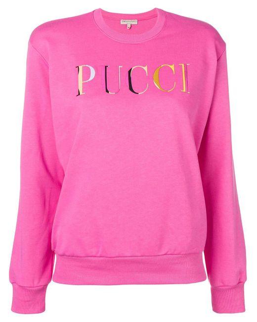 Emilio Pucci ロゴ スウェットシャツ Pink