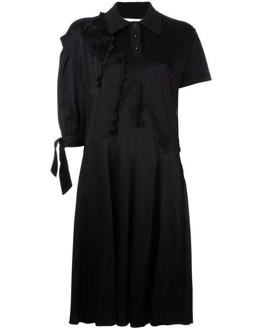 Maison Margiela   Black Asymmetric Sleeve Shirt Dress   Lyst