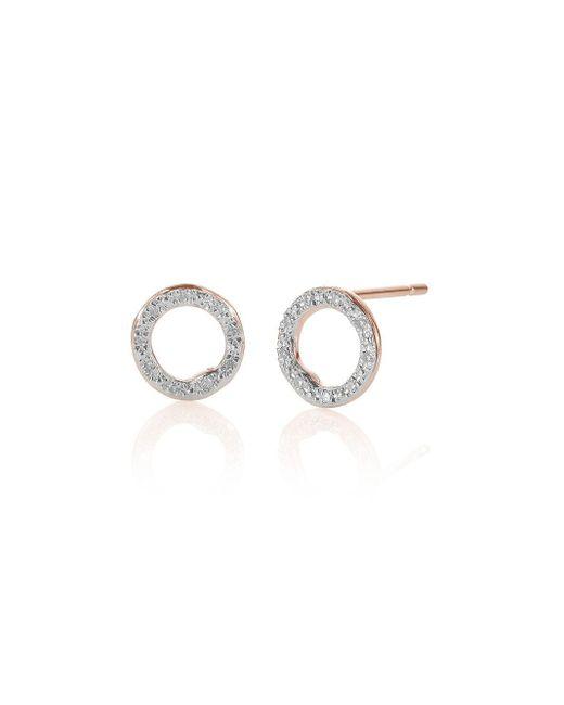 Rp Riva Diamond Circle Stud Earrings Monica Vinader, цвет: Multicolor