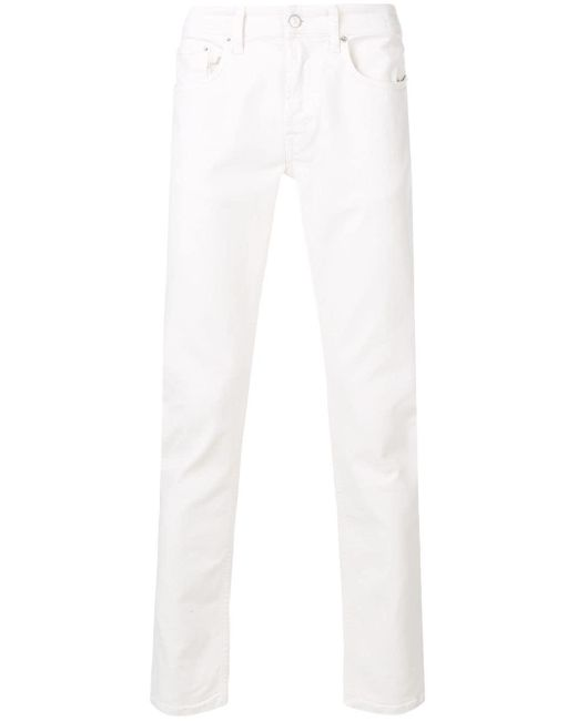 Department 5 White Classic Slim-fit Jeans for men