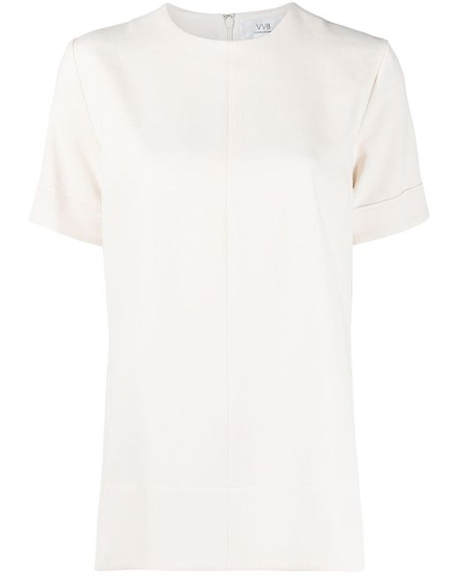 Victoria, Victoria Beckham White Short-sleeved Satin Blouse