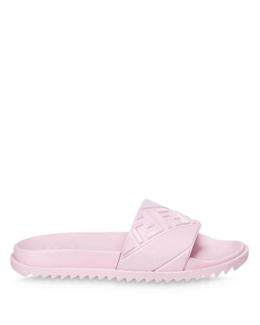 Шлепанцы С Тиснением Ff Fendi для него, цвет: Pink