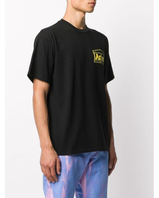 Aries プリント Tシャツ Black
