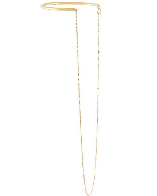 Stella McCartney | Metallic Half Hoop Necklace | Lyst