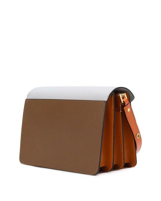 Bolso de hombro Trunk Marni de color Brown