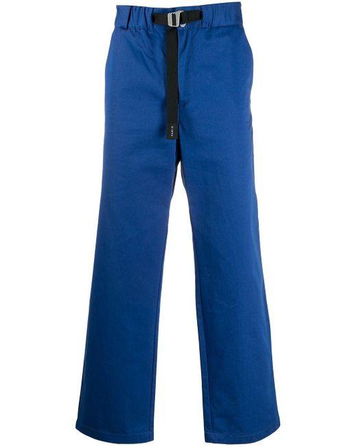 メンズ KENZO ベルテッド ストレートパンツ Blue