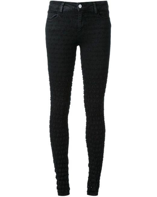 Brockenbow Black Distressed Effect Skinny Jeans