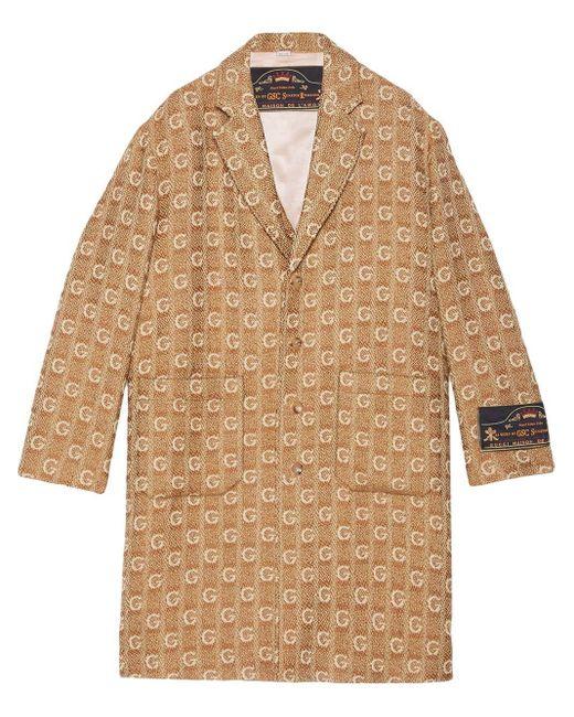 メンズ Gucci モノグラム コート Natural